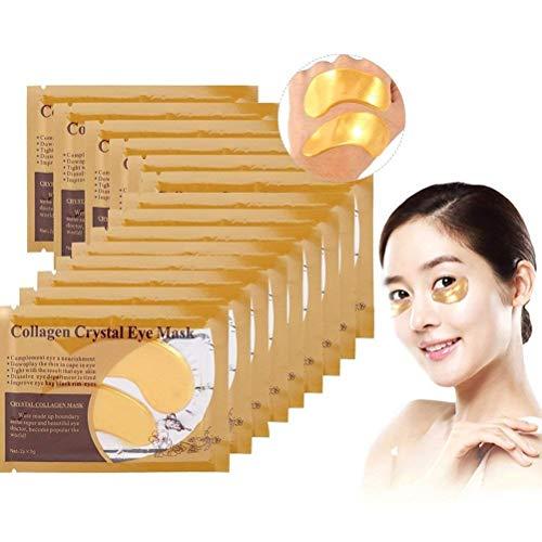 Zjchao 50 Paar Kollagen Golden Eye pad Augenpads, Feuchtigkeit spendende Anti Falten mit Hyaluronsäure und Collagen gegen Augenringe und Fältchen für Regeneration der Haut