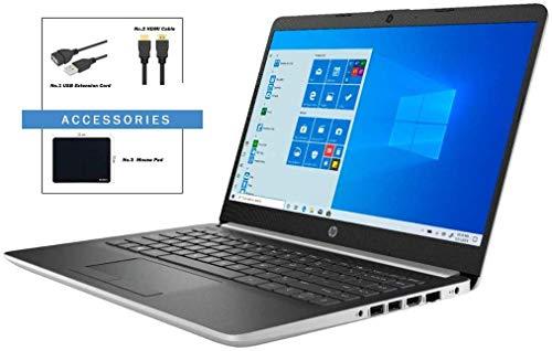 "HP 14"" HD WLED-Backlit High Performance Laptop, AMD A9-9425 Processor up to 3.7GHz, 8GB DDR4, 256GB PCI-e SSD, AMD Radeon R5, WiFi, Bluetooth, Webcam, HDMI, Windows 10 with ABYS Accessory Bundle"