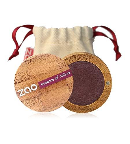 ZAO Pearly Eyeshadow 118 pflaume Lidschatten schimmernd in nachfüllbarer Bambus-Dose
