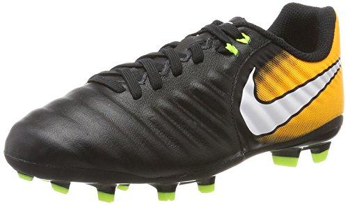 Nike Jr. Tiempo Ligera IV Fg, Scarpe da Calcio Unisex-Bambini, Nero (Black/White-Laser Orange-Volt), 36 EU