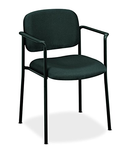 HON Scatter Guest Chair - Upholstered Stacking Chair with Arms, Office Furniture, Charcoal (HVL616)