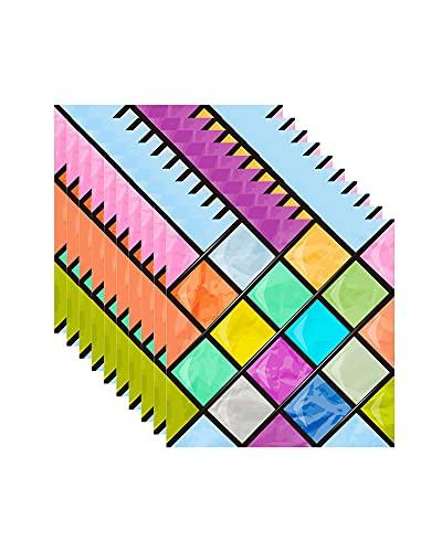 FBBULES 10 Piezas Pegatinas Autoadhesivas de Mosaico para Azulejos de Pared, para Habitación, Cocina, Baño, Impermeable a Prueba de Aceite, Resistente al Calor, 20x20cm/8x8inch
