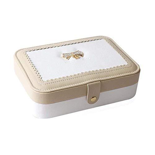 DXYSS Caja de Almacenamiento de Reloj Caja de Almacenamiento, Cuero de la joyería Elegante Minimalista Europeo de joyería de la Caja for el Anillo de la Pulsera Pendientes Collar Almacenamiento