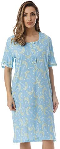Just Love Short Sleeve Nightgown Sleep Dress for Women Sleepwear Blue Starry Moon 3X Plus product image