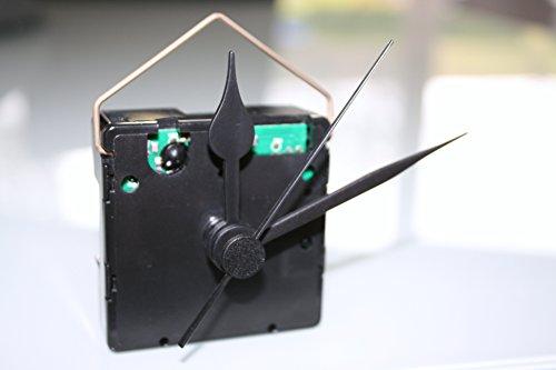 UTS Funkuhrwerk für Ziffernblatt 5-11mm Zeigersatz Nr.4 schwarz-schwarz-schwarz