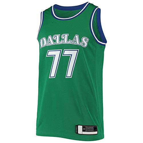 BFDEZ Dallas Sports Doncic Luka Sudadera Mavericks de manga corta, camiseta de baloncesto – verde – # 77 Hardwood Classics Swingman Jersey Classic Edition – XL