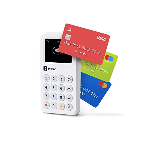 Lector para cobros con tarjeta con wifi y 3G de SumUp: Acepte tarjetas con chip y PIN, pagos contactless, Google Pay y Apple Pay; todo con un dispositivo independiente