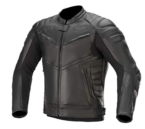 Alpinestars Lederjacke AS-DSL Shiro Leather Jacket tech Air Kompatibel Black, 52