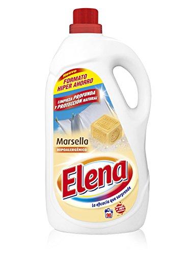 Elena Marsella - Detergente para lavadora, hipoalergénico, adecuado para ropa blanca y de color, formato Gel - 90 dosis