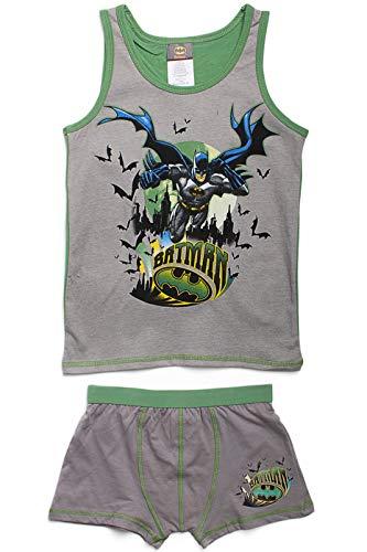Sous vêtement garçon - BATMAN composé d'un débardeur et d'un boxer VERT BATMAN Du 6/8 ANS 100%:Coton