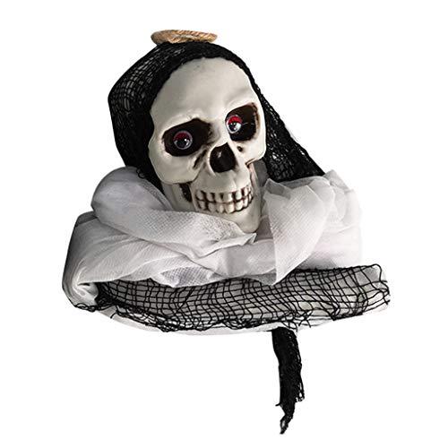 Amcool -Halloween Deko Gruselig Zombie Geist Gespenst Hängend Augen Glänzend Sound Gesteuerte für Halloweendeko Halloween Dekoratio