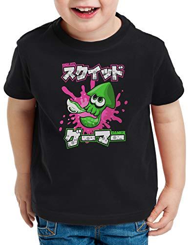 A.N.T. Squid Gamer T-Shirt für Kinder Switch Shooter Gamer, Farbe:Schwarz, Größe:140