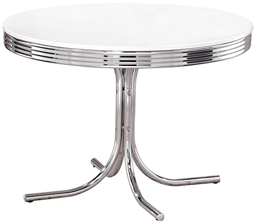 Where To Buy Dining Table: $* Where To Buy Coaster Retro Round Dining Kitchen Table