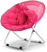 High-quality recliner Chair Large Folding Chair For Adults Sun Chair Sun Chair Mounted In Detachable Cotton Lazy Sofa Round Portable Recliner (Color : Pink)