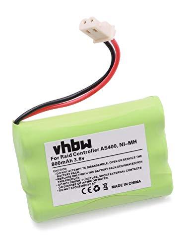 vhbw NI-MH Akku 800mAh (3.6V) für IBM Raid Controller Cache Battery AS400, AS400 i5 wie IBM 44L0305, 44L0302, Dell 44V3696, 44H8429, 09L5609.