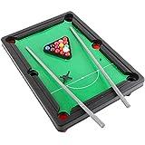 ZXQZ Juego de Billar de Mesa, Juego de Billar de Mesa En Miniatura, Play Snooker Game Set para Niños Adultos Familia Ligero Mini mesas de Billar