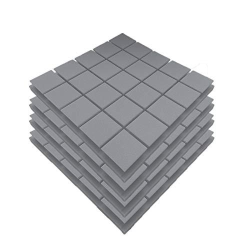 XCQ 50x50x5cm Acoustic Wall Panels schalldichte Schaumstoffpolster Studio-Behandlungen Werkzeuge langlebig 0325 (Color : Gray)