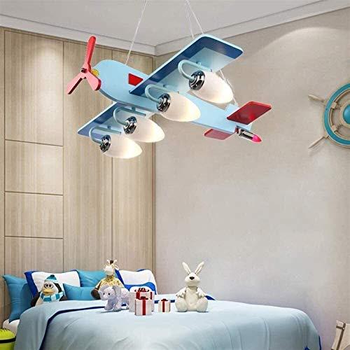 Lámpara de sala de estar de dormitorio Personalidad creativa historieta plana lámpara con la lámpara de techo ajustable, de habitaciones de niños Boy Dormitorio Lámparas, Kinder Decoración Rojo neto d