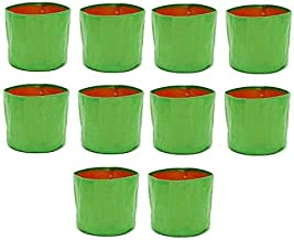 """voolex HDPE Grow Bag for Vegetable Plants and Terrace Gardening Flower Plants (9"""" x 9"""" inches, 22x22x22cm) - Pack of 10"""
