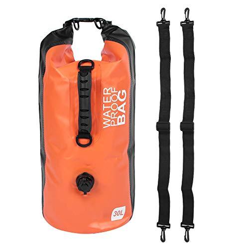 Bolsa para balsa de playa, bolsa seca impermeable al aire libre 30 l al aire libre 30 l plegable impermeable correas ajustables mochila de almacenamiento para kayak barco tour canoa pesca (naranja)