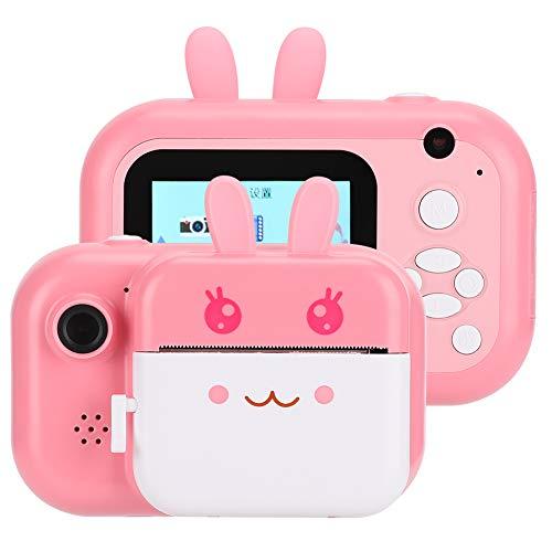 Cámara de impresión para niños (Azul/Rosa al Azar) para niñas y niños para Regalos para niños(Pink)