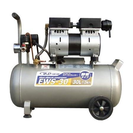 シンセイ 静音オイルレスコンプレッサー 30L EWS-30