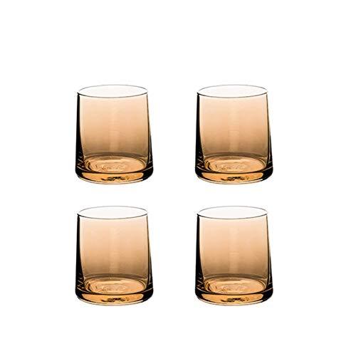AHAI YU Cristal Premium - Cata de vinos Copas de Vino, Juego de 4 Piezas, 250 ml, Vidrio de Whisky, Copas Altamente funcionales para Vino, Beber, Agua Potable, Jugo de Beber, etc. Son Muy Buenos