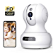 Wireless Camera, 1080P HD WiFi Pet Camera Baby Monitor, Pan/Tilt/Zoom IP Camera for Elder/Nanny Security Cam Night Vision Motion Detection 2-Way Audio Cloud Service Available Webcam White (Renewed)
