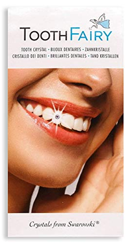 Tooth Fairy 1 x Zahnschmuck Set - Zahnkristalle von Swarovski - inklusive Kleber - einfach zuhause Selbst anbringen - ohne lästigen Zahnarztbesuch und Kosten Sparen! Swarovski Zahn Kristalle Diamanten