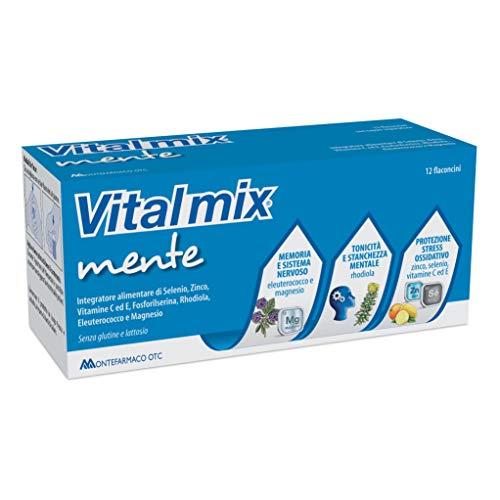 Montefarmaco Integratore Alimentare per la Memoria e Concentrazione Vitalmix Mente, 12 Flaconcini
