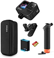 GoPro HERO9 Black Holiday Bundle — Waterproof Action Camera with Free Magnetic Swivel Clip, Extra Reachable Battery,...