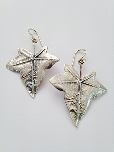 Ivy Leaf Earrings in Silver | Drop Earrings | Articulated fish hook | sterling silver | bohemian earrings | art nouveau | Mother's day gift | Woman gift | Spring Fashion | Natural Design