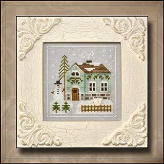 Frosty Forest 3-Snowman's Cottage Cross Stitch Chart