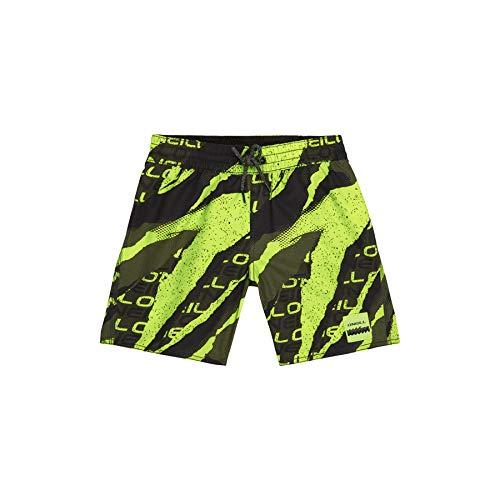 O'Neill Jungen PB Teardown Boardshorts, Yellow AOP W/Green, 116