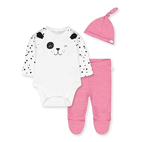 Mothercare Io G Spotty Novelty 3pc Set Body, (Bright Pink 52), Early Baby (Size:2.3) para Bebés