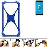 K-S-Trade® Handyhülle Für Vernee Mars Pro 4G Silikon Schutz Hülle Cover Case Bumper Silikoncase TPU Softcase Schutzhülle Smartphone Stoßschutz, Blau (1x),