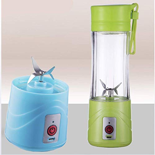 GPWDSN citruspers van kunststof, smoothie, Personal Blender Convenient Juice 4 Leaf Cup Mixer Multifunctionele Juicer Juicer Fruit Blue