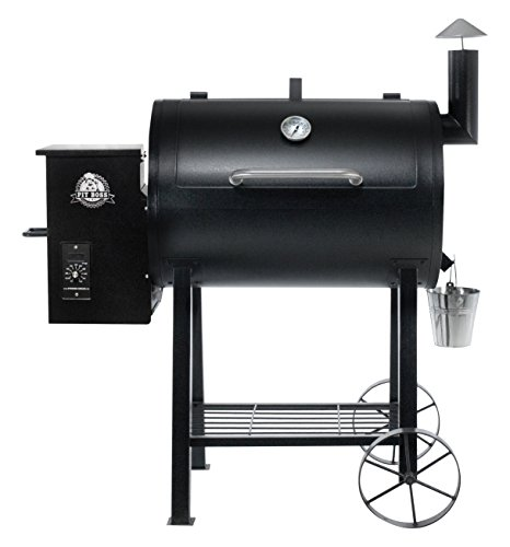 PIT BOSS PB820FB Wood Fired Pellet Grill w/Flame Broiler BBQ, Black,...