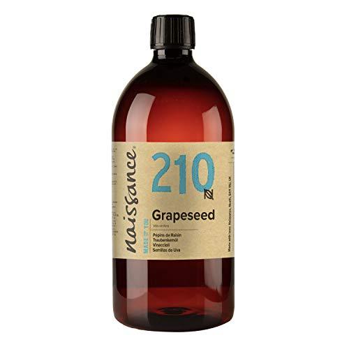Naissance Huile de Pépins de Raisin (n° 210) - 1 litre - 100% naturelle, odeur neutre, huile légère, fine et soyeuse - pour le soin de la peau ou les massages