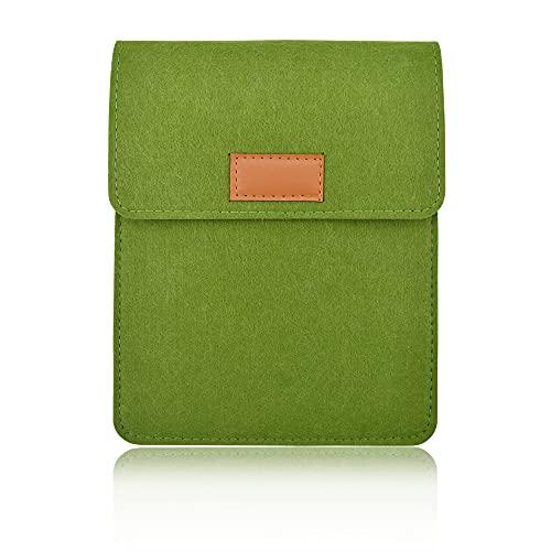 HLDIFENGGS Custodia in feltro portatile per Kindle Sleeve Paperwhite 5-6' Tablet Smartphone e-reader e-book Custodia custodia custodia custodia (verde 1)