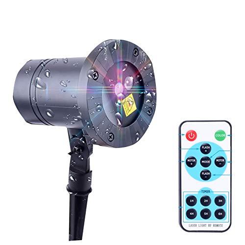 LJIANW Navidad Luces del Proyector, Copo De Nieve Luz del Proyector Al Aire Libre Impermeable IP65 LED Luz De Proyección Interior Lámpara Giratoria For Navidad Boda Fiesta, Alambre 5 Metros