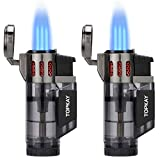 Torch Lighter, Cigar Lighter, Triple Jet Flame Torch Lighters, Windproof Butane Refillable Gas Torch Lighters with a...