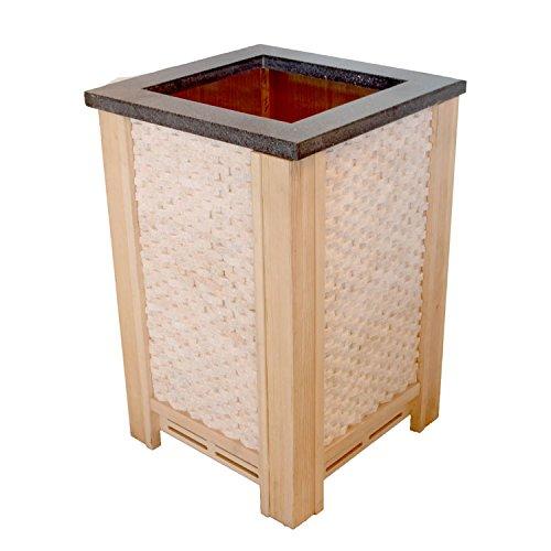 EO-SPA Saunazubehör Ofenschutz für CUBO-Öfen helle Pinie