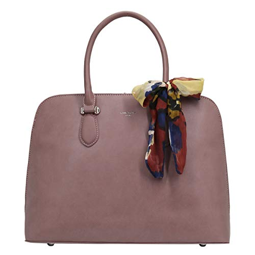 David Jones - Dames Bugatti Handtas Groot - Tote Shopper Bag PU Leer - Bowlingtas Draagtas Hengseltas - Grote Capaciteit Schoudertas Crossbodytas - Citytas Mode Elegant Alledaags - Roze
