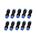 Saim 4mm to 4mm Push in Fitting Straight Quick Connect Jointer Pneumatic Union Connector 10pcs