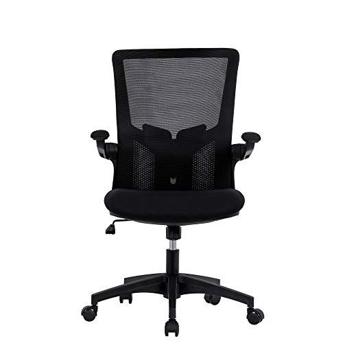 Ergonomischer Schreibtischstuhl Drehstuhl Sessel mit Einstellbare Armlehne & Lendenstütze & Verdicktem Sitzkissen & Rollen bis 150 kg (94-102cm)