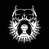 2 piezas, Creative American Staffordshire Terrier Angry Dog Silver Car Vinyl Sticker Decal, Pegatina para el parachoques con impermeable y reflectante, Para computadora portátil, motocicleta, coche