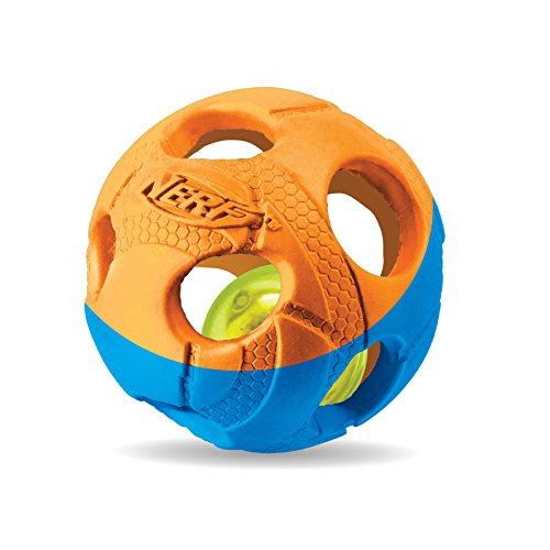 Nerf Dog VP6787E LED Ball, zweifarbig orange/blau, M