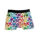 BONIPE Colorido arco iris corazón amor patrón bóxer calzoncillos hombres ropa interior niños elástico transpirable...