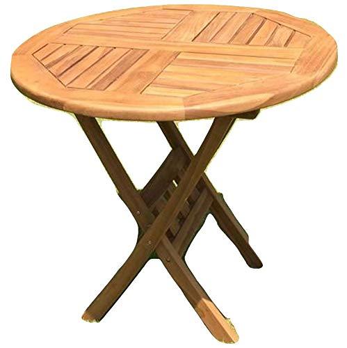 Unbekannt Gartentisch Holz Teak rund Ø 80 cm